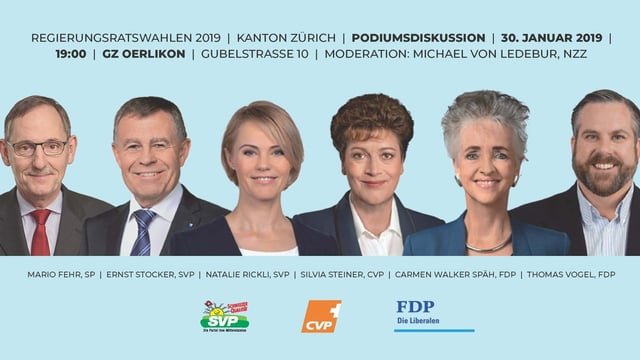 Flyer Regierungsratskandidaten