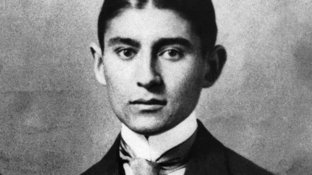 Ein Porträt von Franz Kafka.