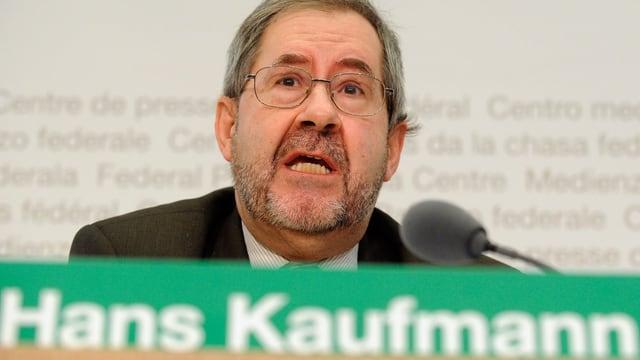 SVP-Nationalrat Hans Kaufmann