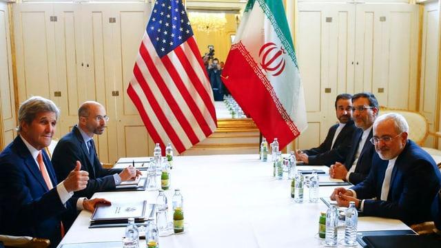 Malsegirezzas tar fatschentas cun l'Iran pervia da restricziuns da contacts economics dals Stadis Unids.
