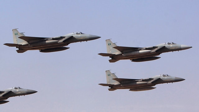 Militärjets der saudischen Luftwaffe
