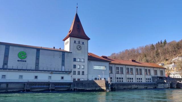 Gebäude des Wasserkraftwerks in Aarau
