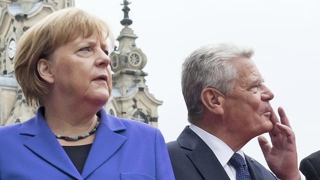 Kanzlerin Merkel und Bundespräsident Gauck.