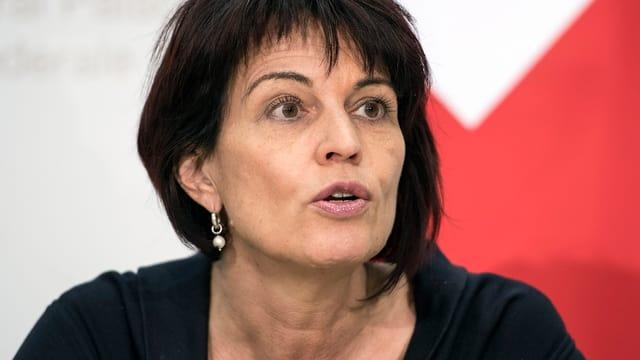 Doris Leuthard an der Medienkonferenz der Bundesrats in Bern.