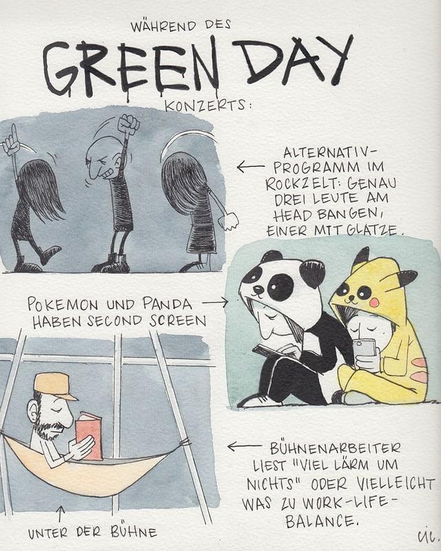 Während des Green Day Konzerts.