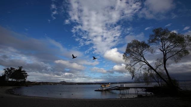 Lake Taupo in Neuseeland.