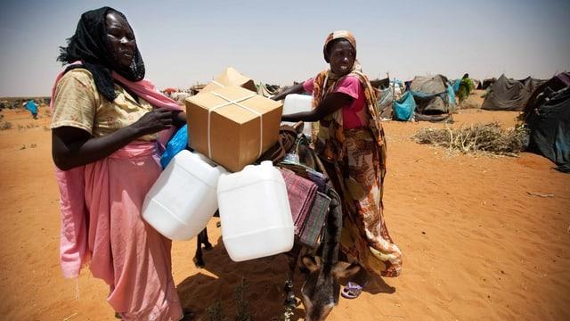 Flüchtlinge in Darfur.