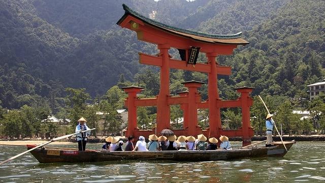 Der Itsukushima-Schrein in Japan.
