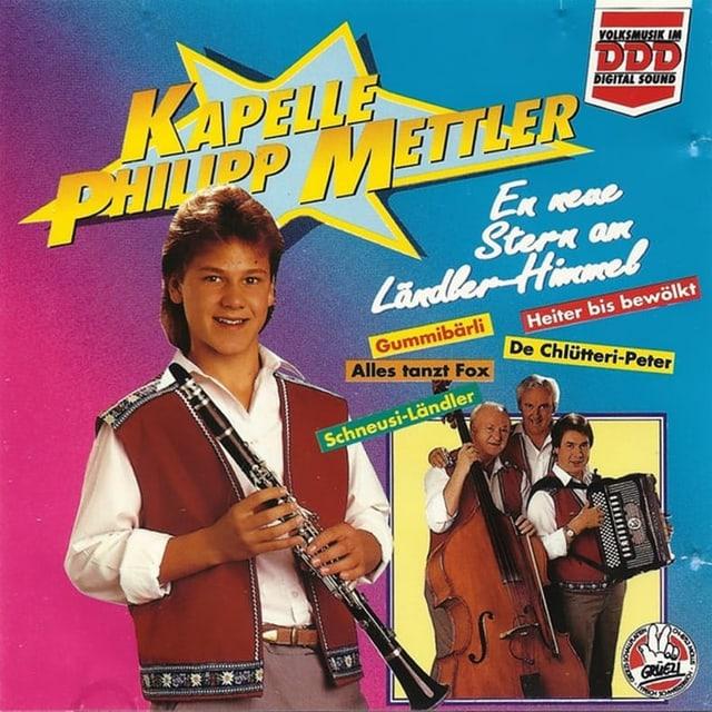 Junger Klarinettist auf CD-Cover.