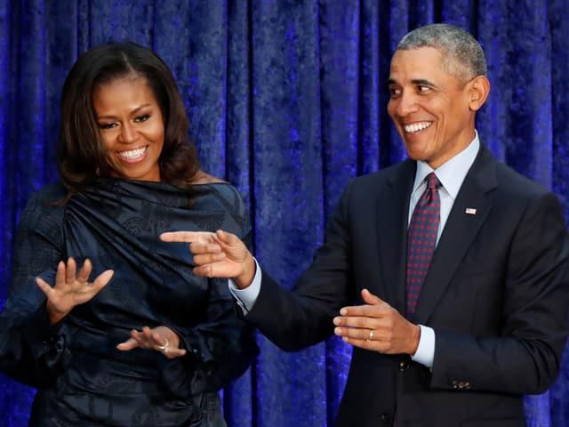 Michelle und Barck Obama