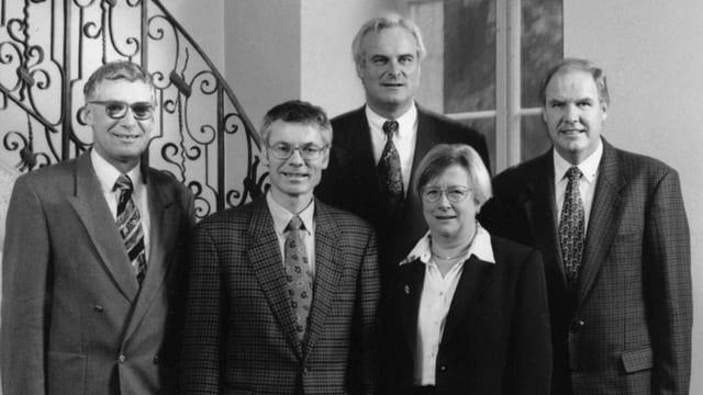 Foto der Aargauer Regierung von 1996.