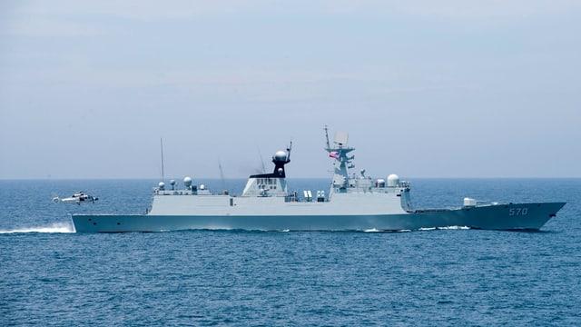 Chinesisches Kriegsschiff.