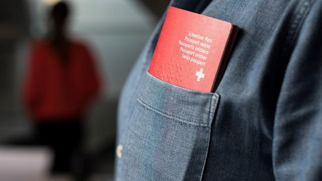 Schweizer Pass in Hemd.