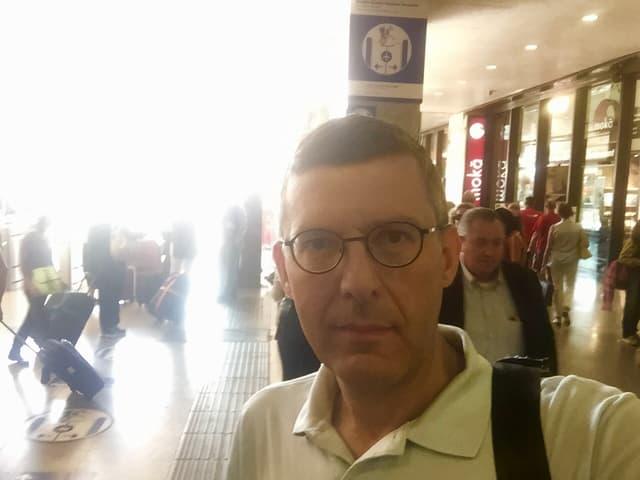 Wo die meisten Rom-Besucher ankommen: Franco Battel am Bahnhof Roma Termini.