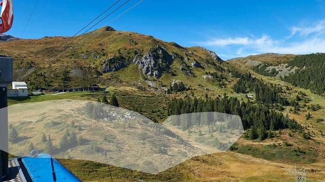 Gelände wo Bärenland entstehen soll, Blick aus Gondelbahn