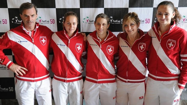 Das Schweizer Fed-Cup-Team trifft in den Aufstiegsspielen auf Australien.