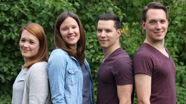 (v.l.) Isabelle, Michelle, Philipp und Nicolas Schorer.