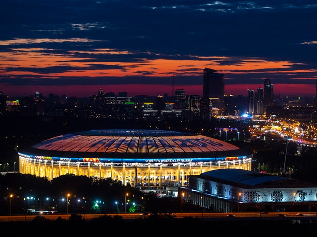 Das Luschniki-Stadion in Moskau.