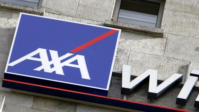 Firmenschild der Axa Winterthur