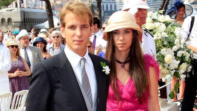 Die richtige Hochzeit steht noch an: Andrea Casiraghi und Tatiana Santo Domingo haben zwar geheiratet, die «richtige Trauung folgte dann aber in Gstaad.