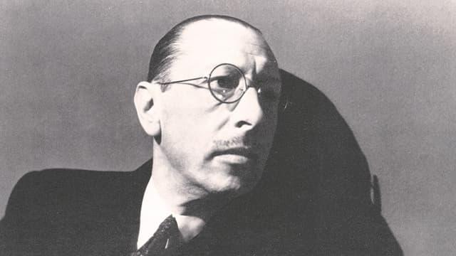 Der russische Starkomponist Igor Strawinsky (1882 - 1971)