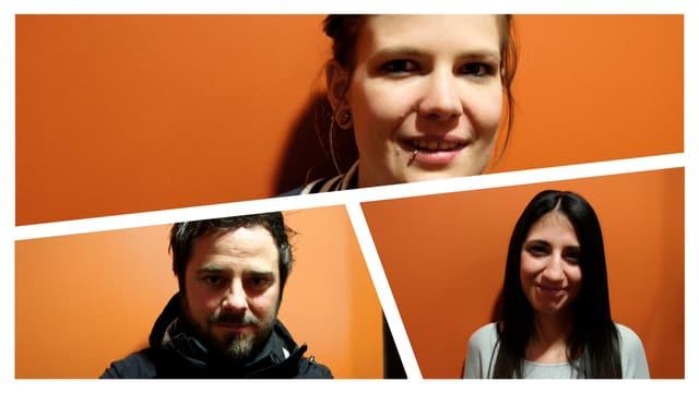 Jeanine, Irina, Marco.