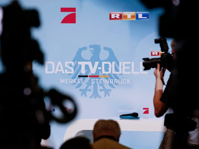 Pressetermin im TV-Duell-Studio in Berlin