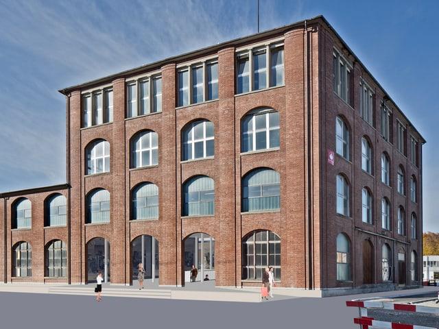 Visualisierung Aussenansicht Backsteingebäude