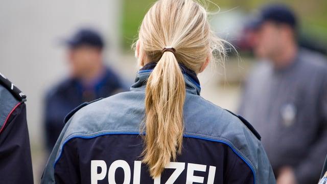 Eine Polizistin der Kantonspolizei Aargau
