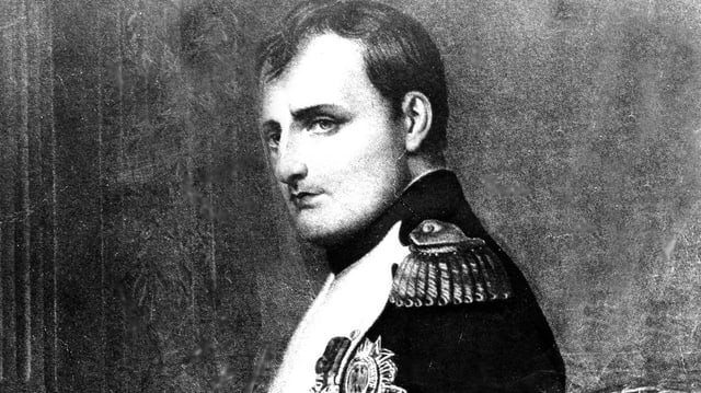Porträt von Napoleon.