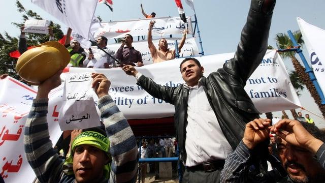 Demomstranten in Kairo.