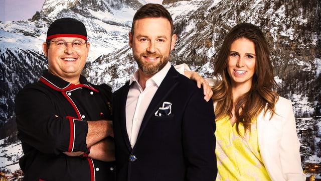 Grill-Ueli, Nik Hartmann, Annina Campell.