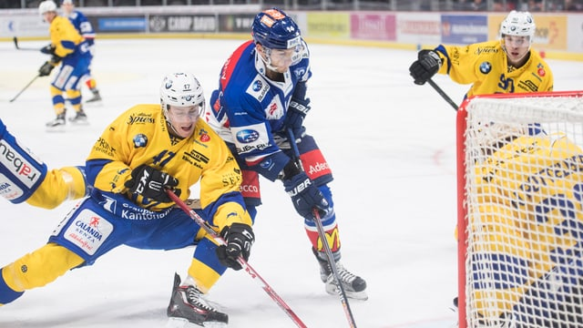 Dus giugaders davant il gol. In dal HCD ed in dals ZSC Lions.