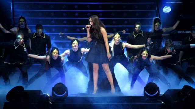 Rebecca Ferguson in einer Liveshow von The X Factor.