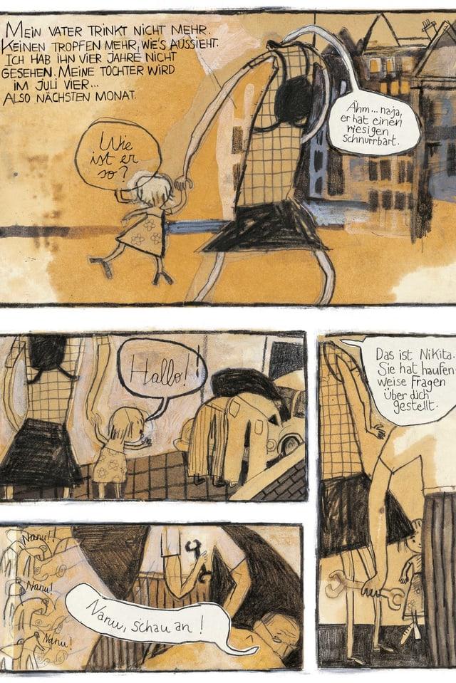 Ein Comic-Ausschnitt mit vier Bildern.