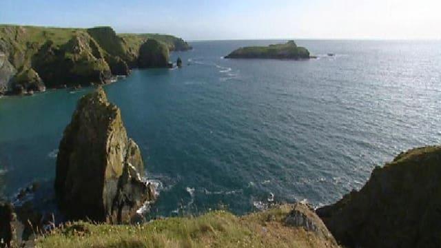 Vista sin la mar a Cornwall.