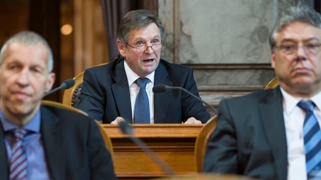 Parlamentarier während der Gottharddebatte im Ständerat.