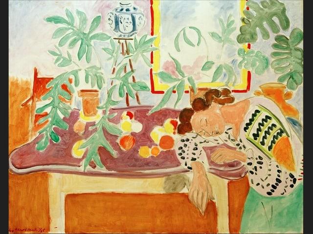 Stillleben mit schlafender Frau (1940)