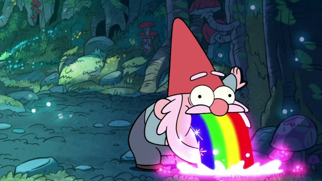 Gnome, die Regenbögen kotzen ♥