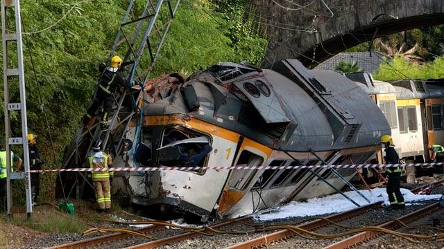Accident da tren en Spagna.