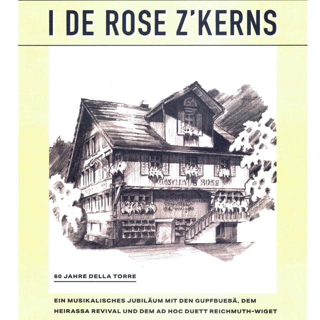 CD Cover zeigt Bleistiftzeichnung der Rose.