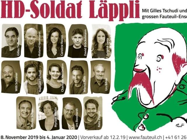 Plakat mit Schauspielern