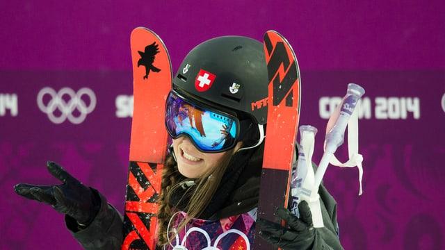 Nina Ragettli als gieus olimpics a Sotchi il 2014.