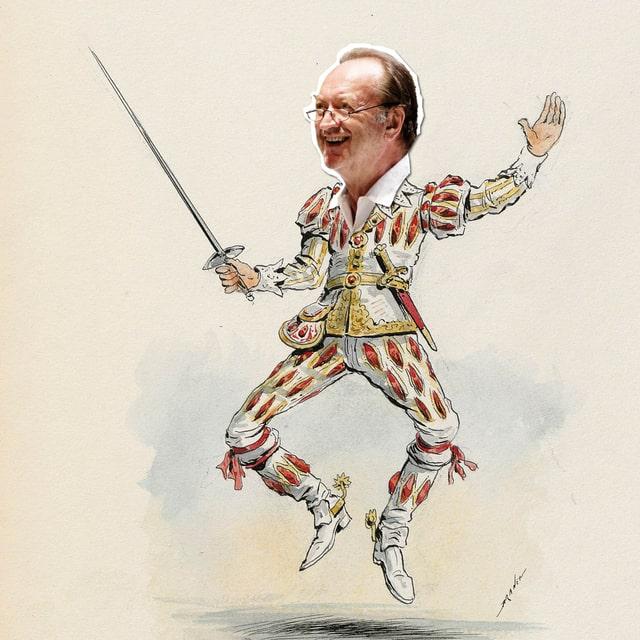 Karikatur: Harnoncourt als Musketier