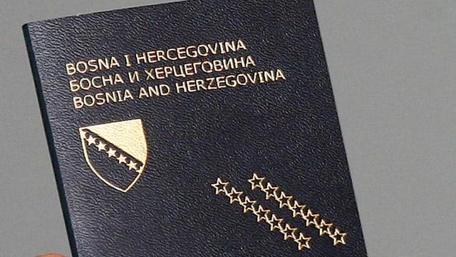 In passaport da la Bosnia-Erzegovina.