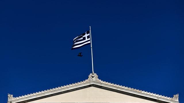 Bandiera da la grezia sin in tetg