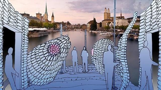 Grafische Darstellung des Auftritts Zürich