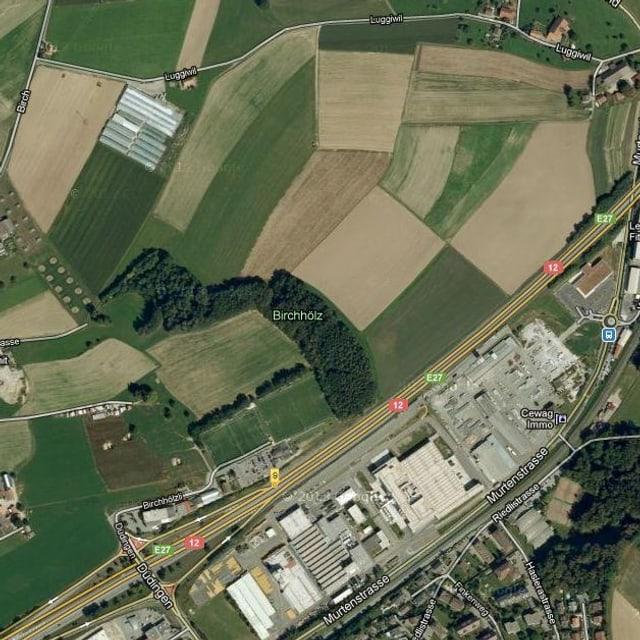 Luftaufnahme der betroffenen Region.