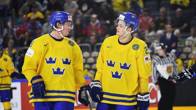 Auf Nicklas Backström (links) und William Nylander muss die Schweiz speziell Acht geben.