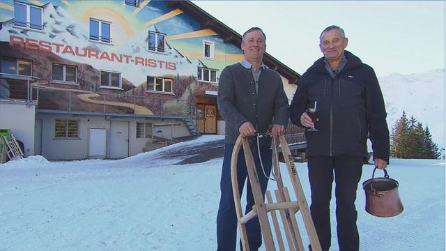 Video «Skihütten Spezial – Tag 2 – Bergrestaurant Ristis, Engelberg» abspielen